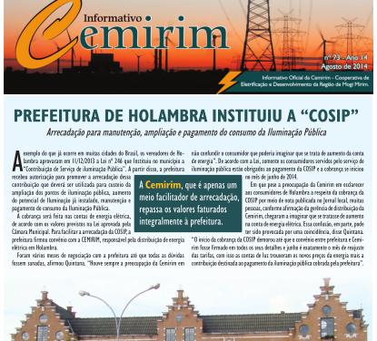 Informativo CEMIRIM – Agosto 2014