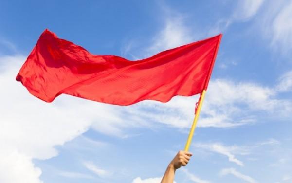 Bandeira vermelha fixada em seu menor patamar para fevereiro